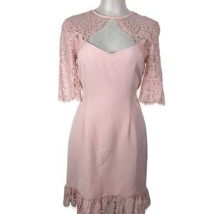 Rachel Zoe Claudia Dress Womens Sz 10 Blush Pink